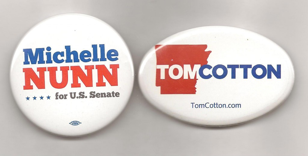 Waiting for November: Senate hopefuls Nunn (D-Ga.) and Cotton (R-Ark.)