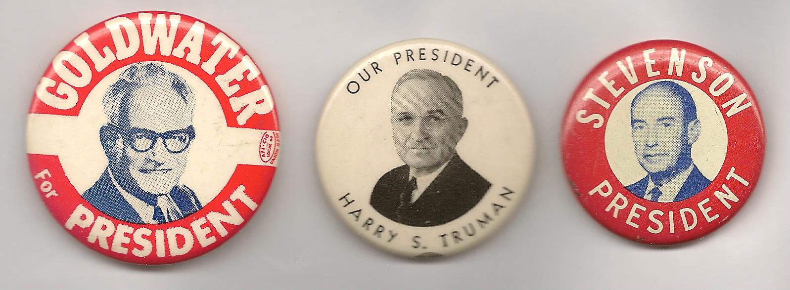 Goldwater and Stevenson never made it to the White House, and Truman left office with dismal polling numbers.  Successful pols?