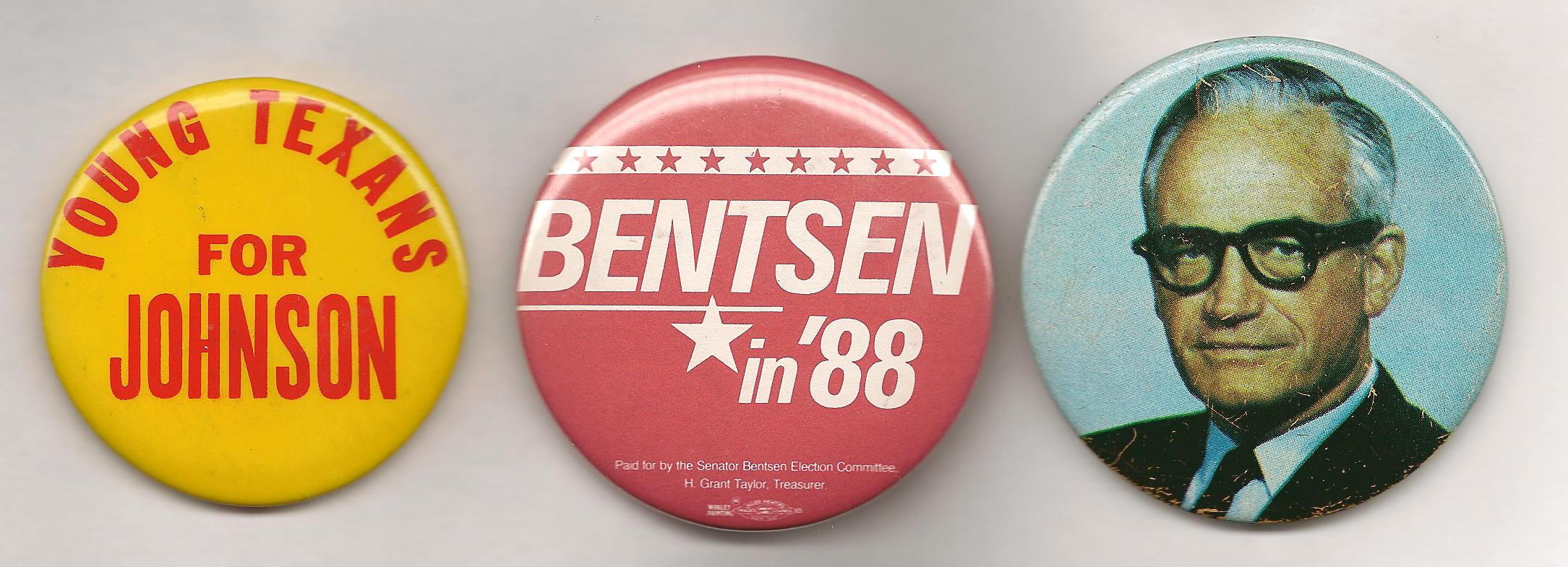 The Texas legislature allowed LBJ to run for Senate AND president (or VP); Lloyd Bentsen took advantage of that law in 1988; Barry Goldwater could have run for both in 1964 but decided to give up his Senate seat.