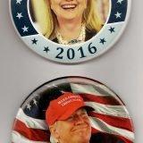 Clinton, Trump buttons 001