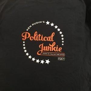 Political Junkie Vintage T-shirt